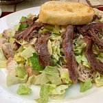 Caesar salad - with anchovies and chicken added