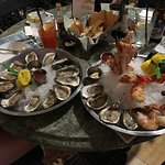 The platter with a side of oysters.