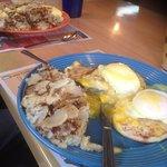 Meat Omlet & Eggs Benedict