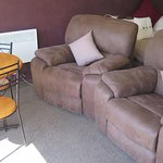 Large, comfortable, overstuffed recliners take up a lot of space.