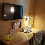 study / work table & mounted TV