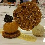 Mandarine sautée au Grand Marnier sur pain d'épices
