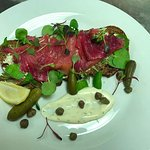 Beetroot cured smoked salmon - Seafood Evening