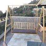Balcony with swing