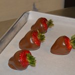 Chocolate dipped strawberries are very popular!  Seasonal item.
