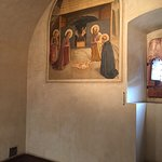 A monk's cell with a Fra Angelico fresco