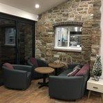 Sofa area next to garden bifold doors