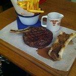 court du boeuf, chips and bone marrow