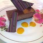Grenadian chocolate cheese cake, an evening dessert special