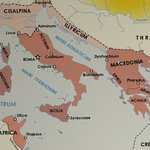 This map at Domus Romana shows why Ceaser chose Luca to meet with Pompei