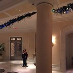 A couple of shots from the Waldorf during Christmas holiday. Lighting and greenery evokes a sens