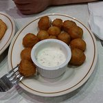 Battered and deep fried mushrooms. Amazing!