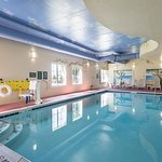 Our indoor heated pool with a beach theme is fun for all ages!