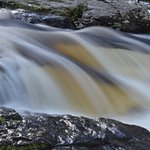 The falls at Killin, long exposure