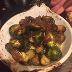 Side of brussel sprouts w/ pork, 9/10