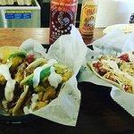 pulled pork taco.. chicken taco