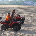 Riding on the beach with a friend! Awesome!