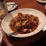 """""""Clams on the Shell"""" - a dozen littlenecks steamed with garlic, wine parsley and marinara"""