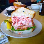 Are you kidding me? It's 3 stories high! The KING CLUB LOBSTER SANDWICH! Wife ate other half.