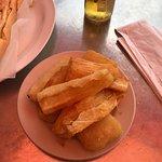 Cubano and yucca fritas