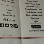 Napkin menu