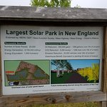 The solar park at the west end of the trail