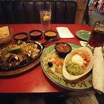 Beef and chicken combo fajitas.