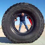 Dump truck tire at the Borax Visitor's Center
