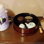房間內的泡茶器具