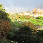 Bournemouth's Gardens taken from our room, which also looked over the seasonal skating rink.