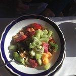Breakfast - vegan musli cereal. Lookit the fruit!!