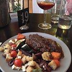 Fantastic tapas! Great sangria! Hot chef!