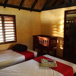 Hugh was a gracious host at Tanna Lodge. We had hot water and our fly screened room had a beauti