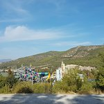 view from outside of the aqua park