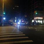 Chelsea International Hostel - Street closed on my way home one night