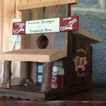 Birdhouse tribute to the original Fresh Air Bar-b-Que in Jackson, Ga.