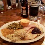 Thanksgiving Dinner, plus dessert plus refillable sodas all for $11.83 per head inclusive of tax