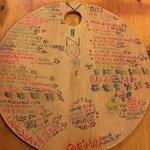 Hand-written menu - back