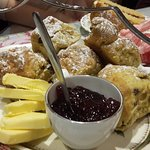 Part 2 of the cake platter - scones (there was cream as well).