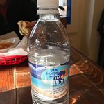Branding is everywhere, even on the bottled water.