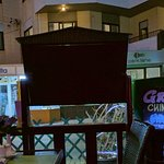 """Evening view from the garden in """"Great Wall"""" - Chinese restaurant. Near hotel - """"iTourMalta"""""""