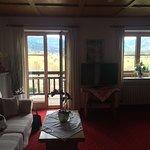 """Das Zimmer """"Waxenstein"""" mit Blick auf den Waxenstein"""