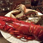 Lobster, crab and oysters from the Christmas smorgasbord, Oyster Bar, Stockholm Sweden