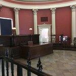Second floor courtroom.