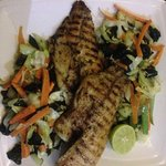 Grilled Talipa and cooked vegetables.