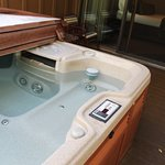 Hot tub just outside master bedroom