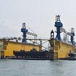 Dry dock near Cijin Island Ferry terminal