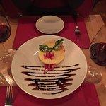 Presentation of the dessert