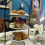 The sandwhich and scone selection at High Tea