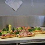 Amazing sandwiches.